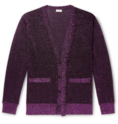 Dries Van Noten Metallic Knitted Cardigan