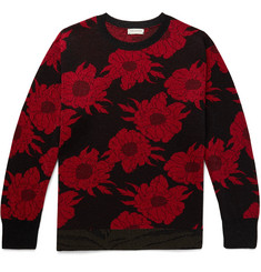 Dries Van Noten Glittered Jacquard-Knit Sweater