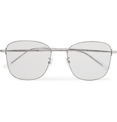 Balenciaga Square-Frame Nylon Mirrored Sunglasses