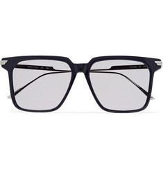 Bottega Veneta Square-Frame Acetate and Silver-Tone Sunglasses