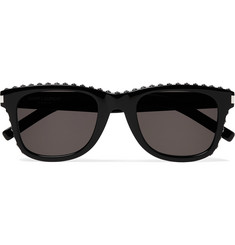 Saint Laurent D-Frame Studded Acetate Sunglasses