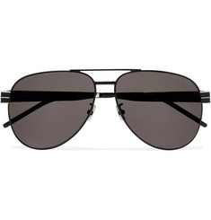Saint Laurent Aviator-Style Metal Sunglasses
