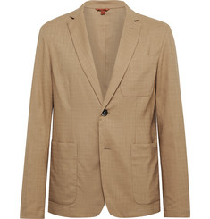 Barena Tan Borgo Unstructured Woven Suit Jacket