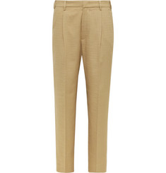 Barena Tan Talon Tapered Woven Suit Trousers
