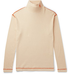 Loewe Eye/LOEWE/Nature Logo-Embroidered Ribbed Cotton-Jersey Rollneck T-Shirt