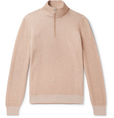 Brunello Cucinelli Slim-Fit Ribbed Cashmere Half-Zip Sweater