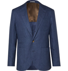 Brunello Cucinelli Blue Unstructured Linen Balzer