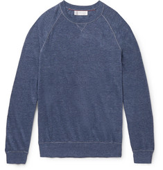 Brunello Cucinelli Slim-Fit Linen and Cotton-Blend Sweatshirt