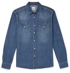 Brunello Cucinelli Denim Western Shirt