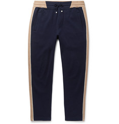 Brunello Cucinelli Slim-Fit Tapered Striped Cotton-Blend Jersey Sweatpants