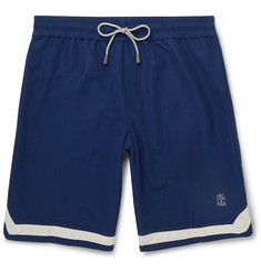 Brunello Cucinelli Mid-Length Contrast-Trimmed Swim Shorts
