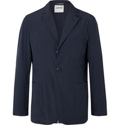 Aspesi Navy Slim-Fit Unstructured Garment-Dyed Shell Blazer