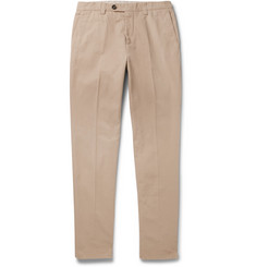 Brunello Cucinelli Slim-Fit Cotton-Gabardine Trousers