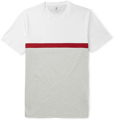 Brunello Cucinelli Slim-Fit Panelled Striped Cotton-Jersey T-Shirt