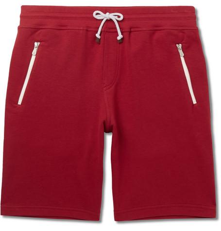 Brunello Cucinelli Shorts SLIM-FIT COTTON-BLEND JERSEY DRAWSTRING SHORTS