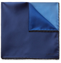 Lanvin Colour-Block Silk-Twill Pocket Square