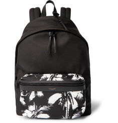 Saint Laurent Printed Canvas Backpack