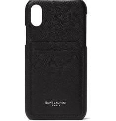 Saint Laurent Pebble-Grain Leather iPhone XS Case