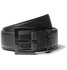 Saint Laurent 3cm Black Leather Belt