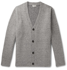 Acne Studios Kabelo Ribbed Mélange Wool-Blend Cardigan