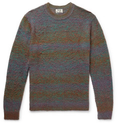 Acne Studios Kamal Space-Dyed Striped Brushed Knitted Sweater