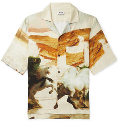 Acne Studios Simon Camp-Collar Printed Twill Shirt