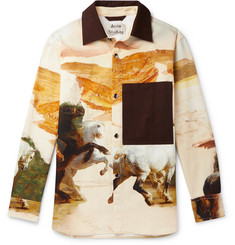 Acne Studios Osmar Printed Cotton-Canvas Overshirt
