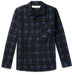 Off-White Logo-Appliquéd Checked Cotton-Flannel Shirt