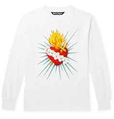 Palm Angels Printed Cotton-Jersey T-Shirt