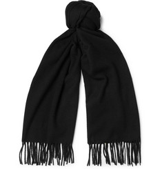 Acne Studios Canada Narrow Wool Fringed Scarf