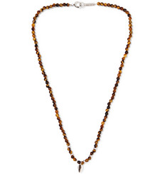 Isabel Marant Collier Silver-Tone Beaded Necklace