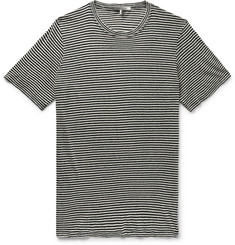 Isabel Marant Leon Striped Linen and Cotton-Blend Jersey T-Shirt