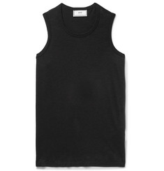 AMI Cotton-Blend Voile Tank Top