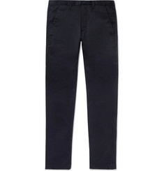 Saint Laurent Navy Slim-Fit Cotton-Blend Chinos