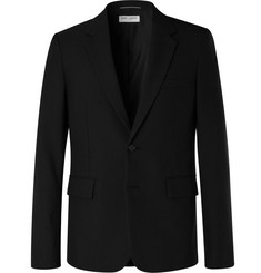 Saint Laurent Black Slim-Fit Wool-Hopsack Blazer