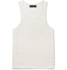 AMIRI Crocheted Cotton and Cashmere-Blend Tank Top