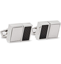 TATEOSSIAN Rhodium-Plated USB Cufflinks