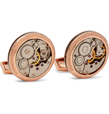 TATEOSSIAN Signature Vintage Skeleton Rose Gold-Plated Cufflinks