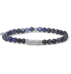 TATEOSSIAN Sodalite and Sterling Silver Beaded Bracelet