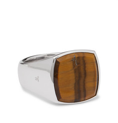 Tom Wood Cushion Sterling Silver Tiger's Eye Ring