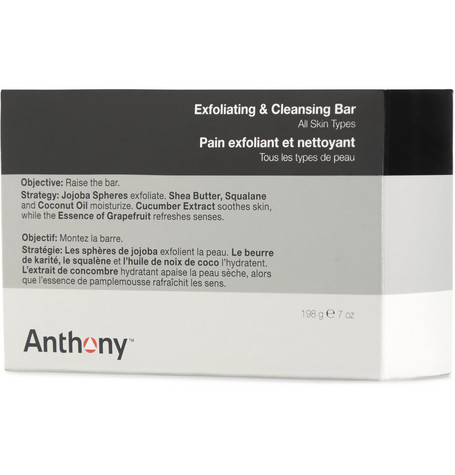 Anthony Exfoliating + Cleansing Bar Soap, 198g In Colorless