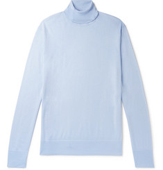 Gabriela Hearst Jermaine Cashmere and Silk-Blend Rollneck Sweater