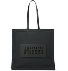 Maison Margiela Leather-Trimmed Logo-Appliquéd Neoprene Tote Bag