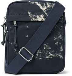 Maison Margiela Paint-Splattered Cotton-Twill Messenger Bag