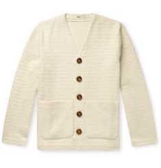 Séfr Striped Cotton-Blend Cardigan
