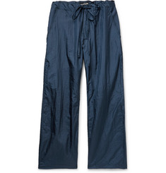 Monitaly Navy Too Easy Wide-Leg Nylon Drawstring Trousers
