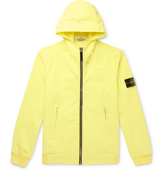 Stone Island Slim-Fit Logo-Appliquéd Soft Shell Hooded Jacket