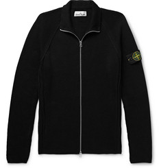 Stone Island Logo-Appliquéd Cotton Zip-Up Cardigan