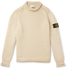 Stone Island Logo-Appliquéd Knitted Rollneck Sweater