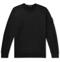 Stone Island Ghost Loopback Stretch-Cotton Jersey Sweatshirt